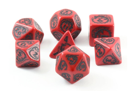 Dragon Dice (Red With Black) | RPG Role Playing Game Dice ...