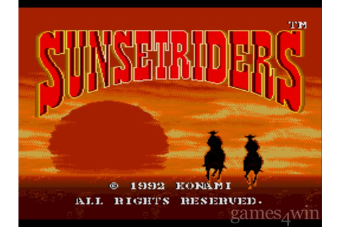 Sunset Riders. Download and Play Sunset Riders Game ...