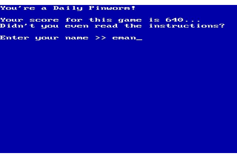 Download Willy the worm action for DOS (1985 ...