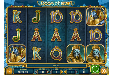 Doom of Egypt slot by Play'n Go free play demo, review