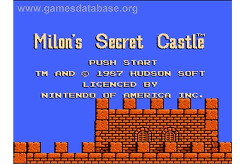 Milon's Secret Castle - Nintendo NES - Games Database