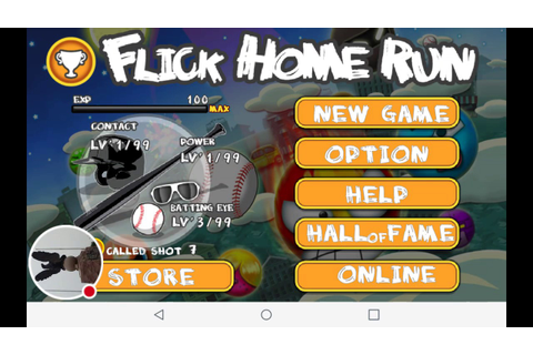 My Flick Home Run! baseball game Stream - YouTube