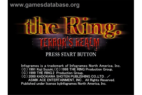Ring: Terror's Realm - Sega Dreamcast - Games Database
