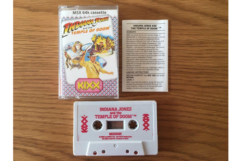 Indiana Jones and the Temple of Doom (1987, MSX, Atari ...