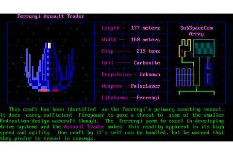 Trade Wars 2002 Screenshots for DOS - MobyGames