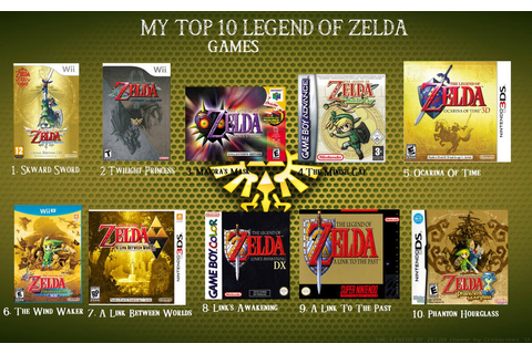 My Top 10 Legend of Zelda Games by DragonDaak on DeviantArt
