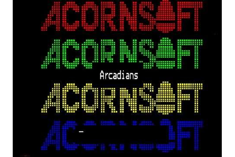 ARCADIANS (1982 Acornsoft) On The BBC Micro Model B - YouTube