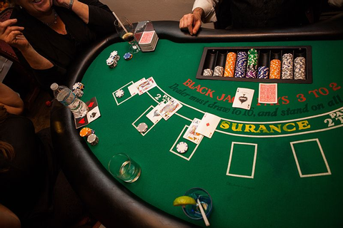 Blackjack table rental in action. | Projects to Try ...