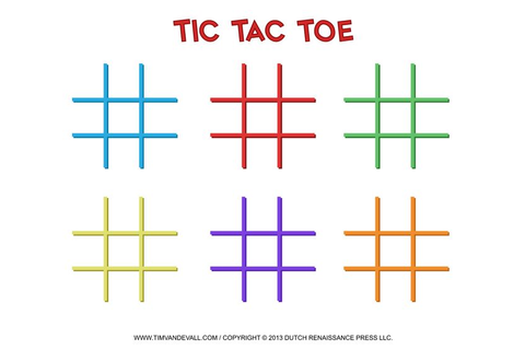 142 best Tic Tac Toe Game Printables images on Pinterest ...