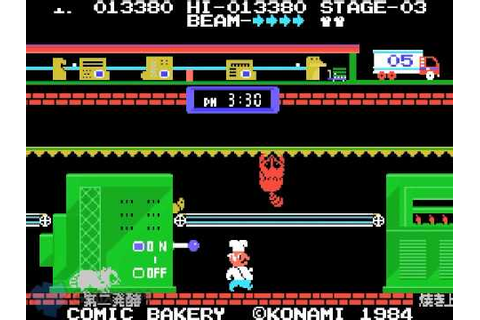 MSX Konami Comic Bakery Long play / a.k.a. ぽんぽこパン - YouTube