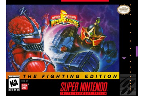 Mighty Morphin Power Rangers Fighting Edition SNES Super ...