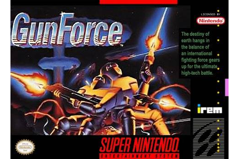 GunForce SNES Super Nintendo