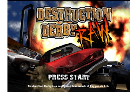 Destruction Derby Raw PS1 ISO - Download Game PS1 PSP Roms ...