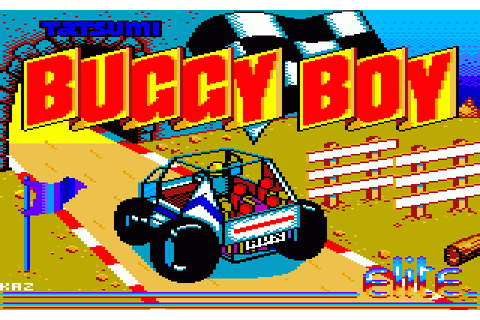 Buggy Boy (1987) by Elite Amstrad CPC game