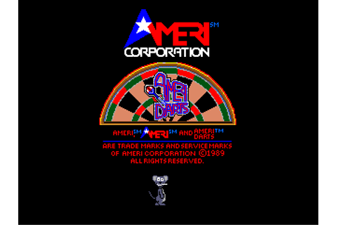 AmeriDarts arcade video game by Ameri (1989)
