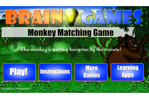 Amazon.com: Brain Games - Monkey Matching Game: Appstore ...