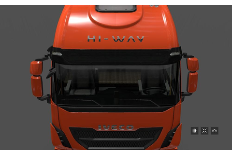 IVECO HI WAY CLEAN SUNSHIELD Mod -Euro Truck Simulator 2 Mods