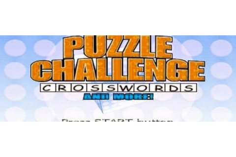 Puzzle Challenge Crosswords (PSP) - Download Game PS1 PSP ...