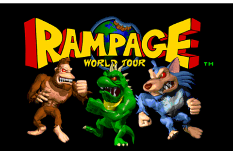 Rampage: World Tour (1997) Arcade game