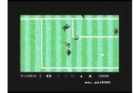 Microprose Soccer - Commodore C64 - YouTube