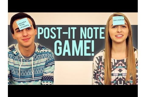POST-IT NOTE GAME - YouTube
