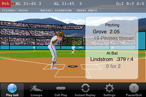 EWB Baseball for iPhone: Game action | EWB Baseball ...