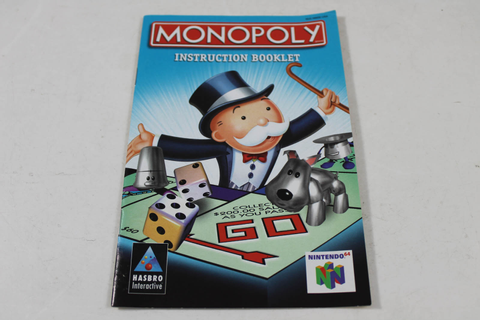 Manual - Monopoly 64 - Nintendo N64