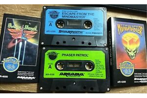 Escape From The Mindmaster + Phaser Patrol - Vintage Atari ...