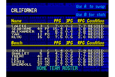 Dick Vitale's Awesome Baby! College Hoops Screenshots ...