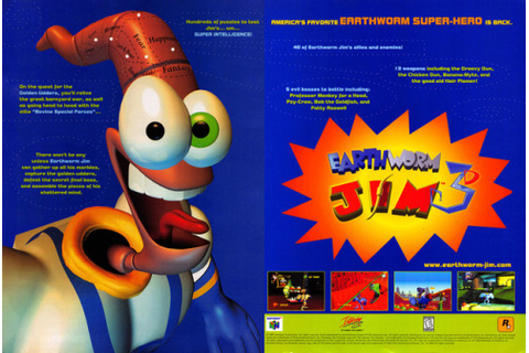 earthworm jim 3d | Tumblr