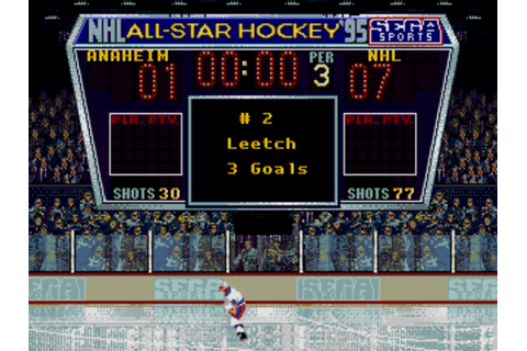 NHL All Star Hockey '95 - Sega Genesis - Score Board