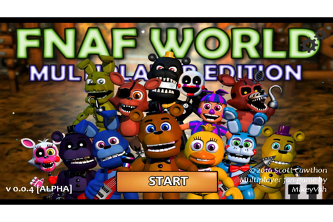 Five Nights at Freddy's (FNAF) World Multiplayer Edition ...