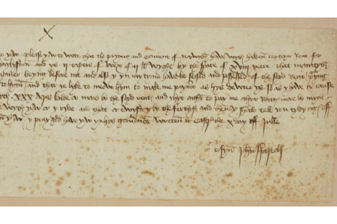 Paston family medieval letter on show to public for first ...