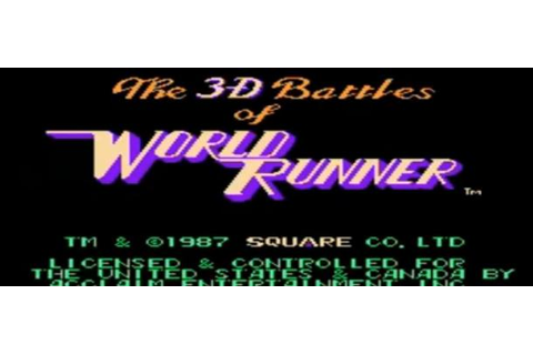 3-D WorldRunner (NES) – GameCola