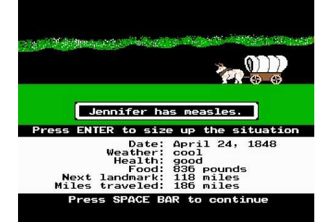 The Oregon Trail Gameplay - YouTube