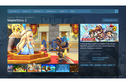MapleStory 2 is now on Steam! | Official MapleStory 2 Website