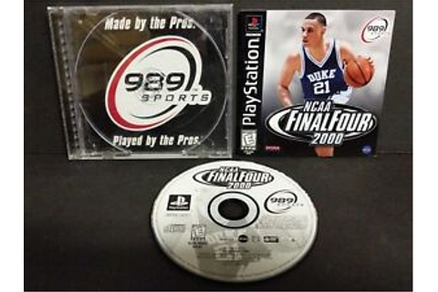 NCAA Final Four 2000 (Sony PlayStation 1, 1999) PS1 ...