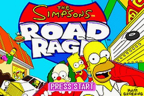 Play Simpsons, The - Road Rage Nintendo Game Boy Advance ...
