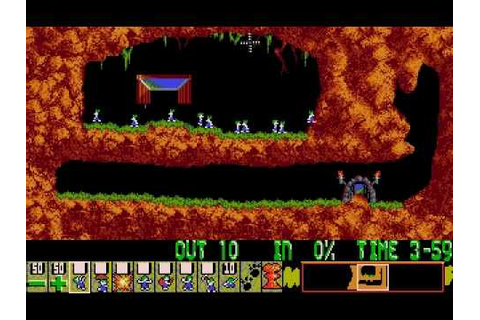 Lemmings music - PC (DOS) Level 01 (Just Dig) - YouTube