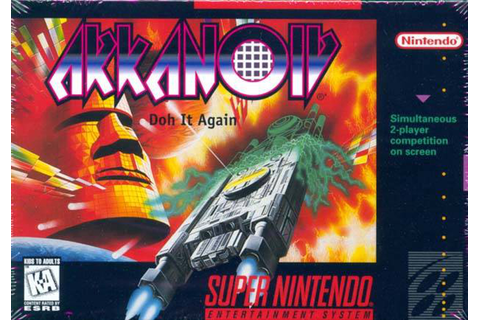 Arkanoid: Doh It Again [SNES] – Review | My Brain on Games