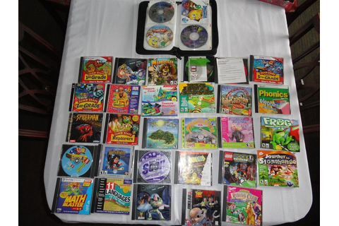 Huge Lot of Older PC Games late 90s Kids Video Games ...