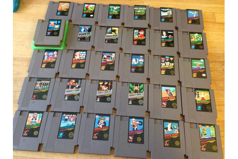 NES all 30 black box games stack up, dk, etc.. Victoria ...