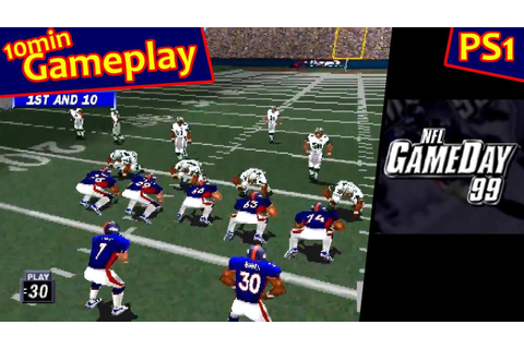 NFL Gameday 99 ... (PS1) 60fps - YouTube
