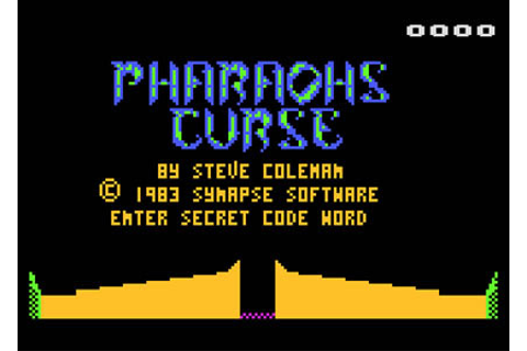 Pharaoh's Curse Review for Atari 800 (1983) - Defunct Games