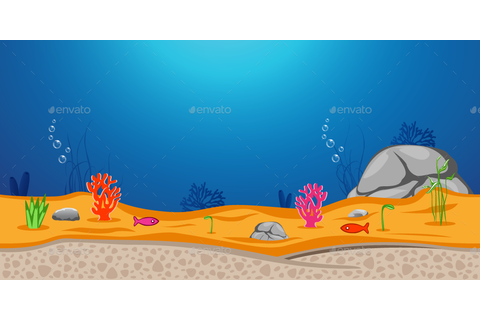 Under Ocean Game Background by yakdesigner | GraphicRiver