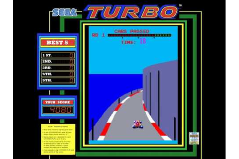 Turbo ~1981 Sega~ Arcade MAME turbo - YouTube