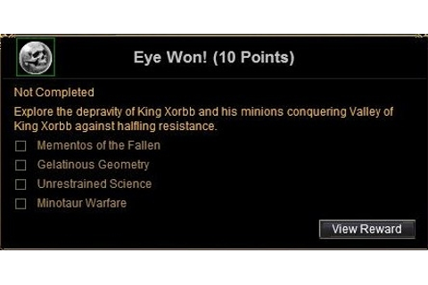 Achievement: Eye Won! :: Quests :: EverQuest :: ZAM