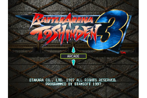 Battle Arena Toshinden 3 (1996) by Tamsoft PS game