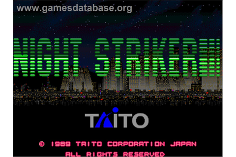 Night Striker - Arcade - Games Database