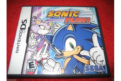 Sonic Rush (Nintendo DS, DSI, NDS, 2DS, 3DS 2005) Sonic ...